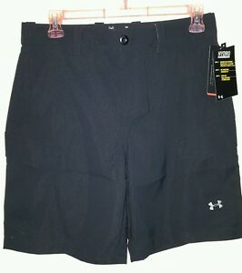 Under Armour Hydro Armour Performance Cargo Shorts Size: 36 (NWT) *Black*