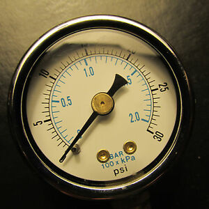 live steam 0 to 30 miniature pressure gauge