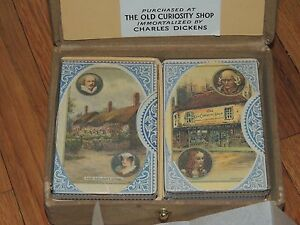 new 2 decks playing cards old curiosity shop