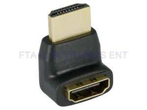 90 Degree Right Angle HDMI a Male to Female Up Coupler Adapter Connector $5.39