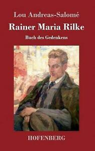 Rainer Maria Rilke by Lou Andreas Salome German Hardcover Book Free Shipping