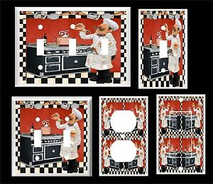 PASTA CHEF TESTING SPAGHETTI LIGHT SWITCH COVER PLATE  U PICK PLATE SIZE