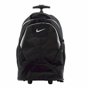 Nike Rolling Laptop Wheel Wheeled Student Kids Adults Black Travel Pack Backpack