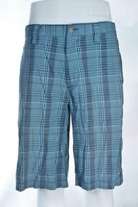 Oakley Mens Golf Shorts ~ Marine Blue Plaid ~ Swagger 2.0 ~ 441502 ~ Size 34W ~