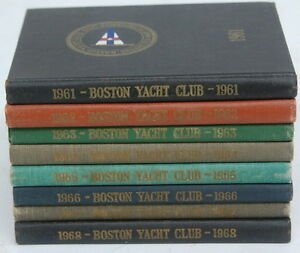 Antique 1960'S 1961-1968 Boston Mass Yacht Club Yearbook Hardcover Book Lot