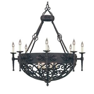 Designers Fountain Alhambra 14 Light Chandelier Natural Iron - 9189-NI