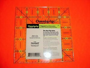Omnigrip Neon Green 5 inch x 5 inch Square Ruler for Quilting # RN5 $22.95