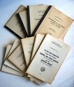 Collection 1950-60's CALIFORNIA OCEAN FISH & FISHING Guides & Bulletins