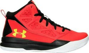 Boys' Grade School Under Armour Jet Mid Basketball Shoes RedBlack 1274067 706