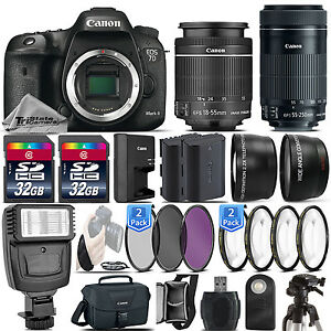 Canon EOS 7D Mark II DSLR Camera + 18-55mm IS STM + 55-250mm IS STM - 64GB Kit