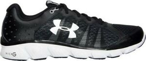 Men's Under Armour Assert 6 Running Shoes BlackWhiteWhite 1266224 001