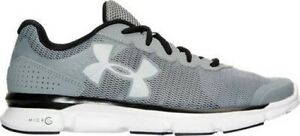 Mens Under Armour Micro G Speed Swift Running Shoes Steel GreyWhite 1266208 035