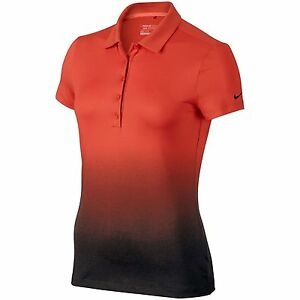 NEW Nike Fade 2.0 Womens Golf Polo SHIRT TOP Dri-Fit Size M 684769-696 $70 RED