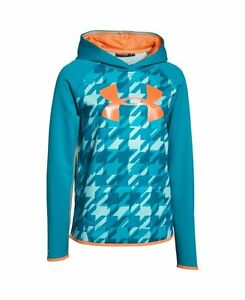Under Armour Girls Fleece Printed Big Logo Hoodie MSRP $49.99 ~FREE SHIPPING