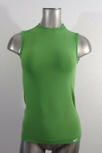 NIKE Fit-Dry women's fitted stretch tank t-shirt green ML
