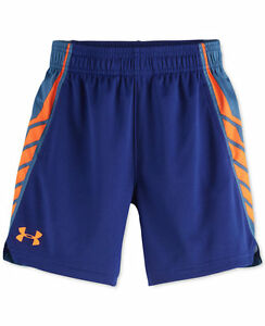 UNDER ARMOUR Little Boy's SELECT Shorts ** NAVYCASPIANORANGE - 2T ** NWT
