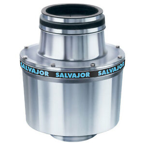 Salvajor 1 HP Cone Assembly Disposer Auto Reversing & Line Disconnect