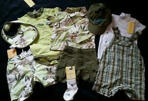 NWT GYMBOREE TROPICAL TREK GECKO OVERALLS TOPS SHORTS HAT SOCKS LOT 6-12 MO