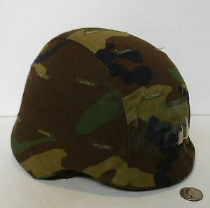 US Army Kevlar Helmet w Camo Combat Cover !!! USED
