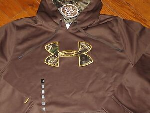 NWT UNDER ARMOUR STORM COLD GEAR MENS 3XL BROWN CAMO REAL TREE HOODIE SWEATSHIRT