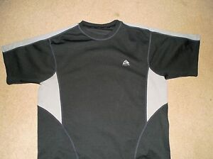 NIKE FIT DRY ACG MEN'S HIKING TRAINING REFLECTIVE SHIRT GRAY XL USED POLYESTER