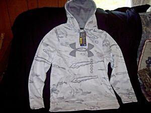 Under Armour Hoodie Mens Small Snow Camo Jacket Under Armour Cold Gear Urban
