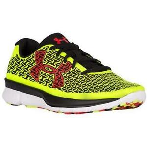 Boys Youth UNDER ARMOUR CLUTCHFIT 1281104 Yellow Running Casual Shoes NEW