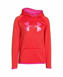 Under Armour Fleece Printed Big Logo Girls Hoodie Small MSRP $50 -Free Shipping