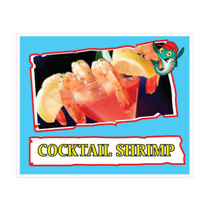 Cocktail Shrimp Concession Restaurant Food Truck Die-Cut Vinyl Sticker