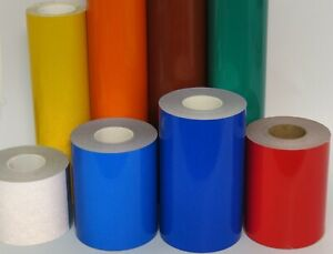 Reflective Tape Roll Pick Your Color and Size White Yellow Orange or Black
