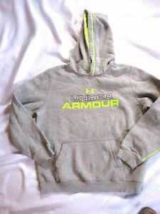 Boy or Girl Under Armour Youth Neon Green & Gray Hoodie Hood NWOT  XL