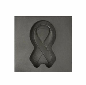 Small Memorial Ribbon 3D Graphite Ingot Mold Silver Gold Copper Metal Casting