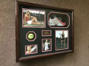 MARIA SHARAPOVA SIGNED AUTOGRAPHED WORN SHOE FRAMED WITH TOP OF THE LINE FRAMING