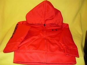 Under Armour Toddlers Boys Hoodie Jacket Size 2T 24 Months Red Black LN