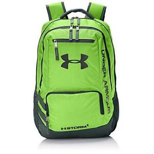 Under Armour Storm Hustle II Backpack Hyper GreenStealth Gray One Size New