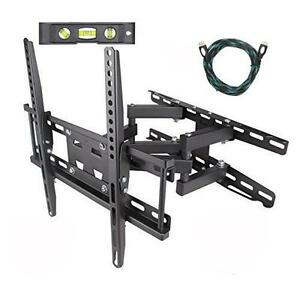 EASYGOING Full Motion Tilt Articulating Cantilever Swivel Dual Arm LCD TV Wall