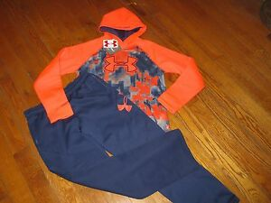 NWT UNDER ARMOUR YOUTH BOYS XL (18-20)  HOODIE SWEATSHIRT & SWEATPANTS SET