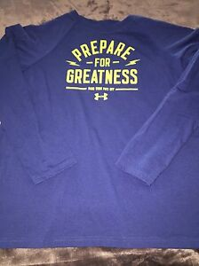 Under Armour YXL Heat gear Loose LS Tee T Shirt Boys Prepare For Greatness