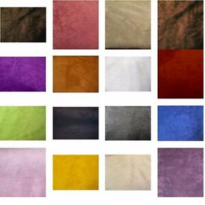 40 COLORS UPHOLSTERY MICRO SUEDE BACKDROP DRAPERY HEADLINER FABRIC $11.99YARD