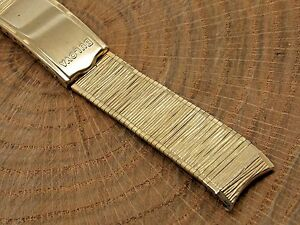 Bulova Yellow Gold Filled Vintage watch band bracelet 17.5mm 1116 inch foldover