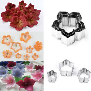3PcsSet Flower Cookies Cutter Pastry Biscuit Cake Decorating Mold Mould Tools