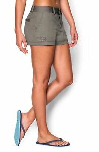 UNDER ARMOUR 3.5 INLET WOMENS SHORTS STONELEIGH TAUPE Sz 10 -Free Shipping