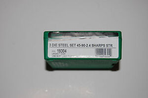 RCBS 3 Die Steel Set 45-90-2.4 Sharps Shooter 19304 FREE PRIORITY SHIPPING