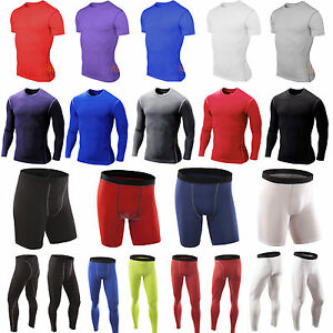 Men Under Base Layer Tight Armour Compression Shirt Fitness Running Jogger Pant