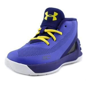 Under Armour Inf Curry 3 Toddler  Round Toe Synthetic Blue Basketball Shoe