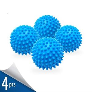 Dryer Balls 4 Pack Blue Reusable Dryer Balls Replace Laundry Drying Fabric Us