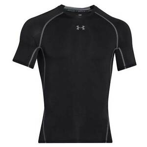 New Under Armour HeatGear Sonic Compression T-Shirt Men's Choose Size Black NWT