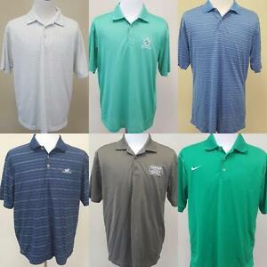 Lot of 6 Nike Polo Golf Shirts Size Large Fit Dry & Dri-Fit Moisture Wicking