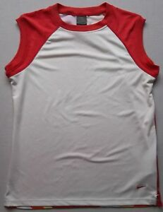 Womens NIKE Fit Dry shirt sz L 12 - 14 polyester training performance top