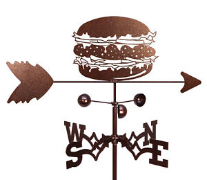 SWEN Products CHEESE BURGER HAMBURGER Steel Weathervane